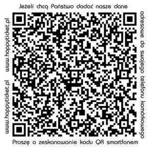 dane adresowe Happy Ticket QR1