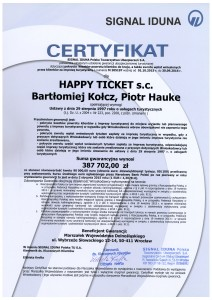 Certyfikat Signa Iduna 2015 2016